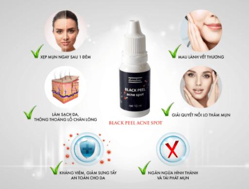 Công dụng Black Peel Acne Spot