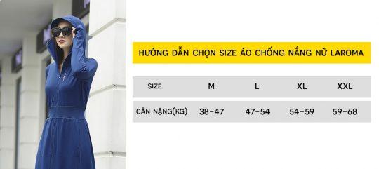 huong dan chon size ao chong nang laroma