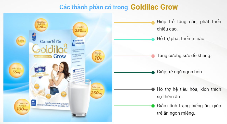 Công dụng của sữa non tổ yến goldilac